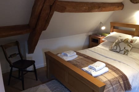 Attic bedroom with ensuite shower room