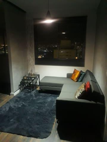 Vale a pena  ver de novo sala elegante e aconchegante
