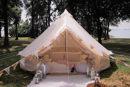 Glamping in Luxurious Bell Tent by the Sea - Singapore