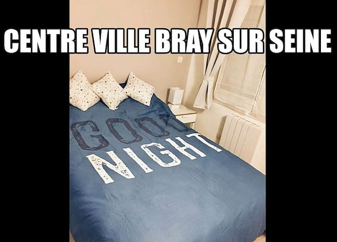 Chambre (2) lit simple au centre de Bray Sur Seine