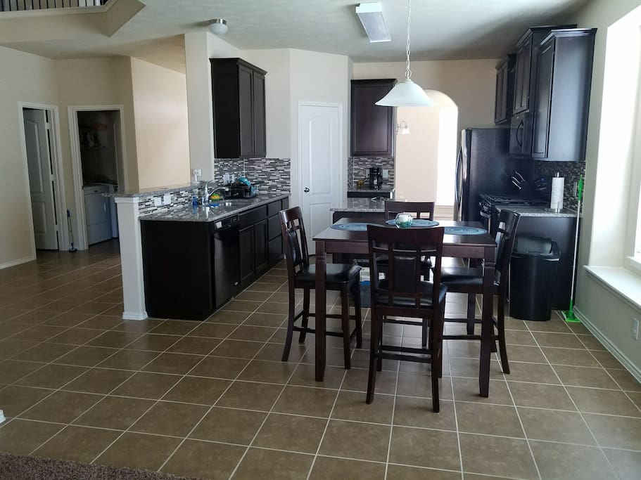 Beautiful kitchen/dining area.