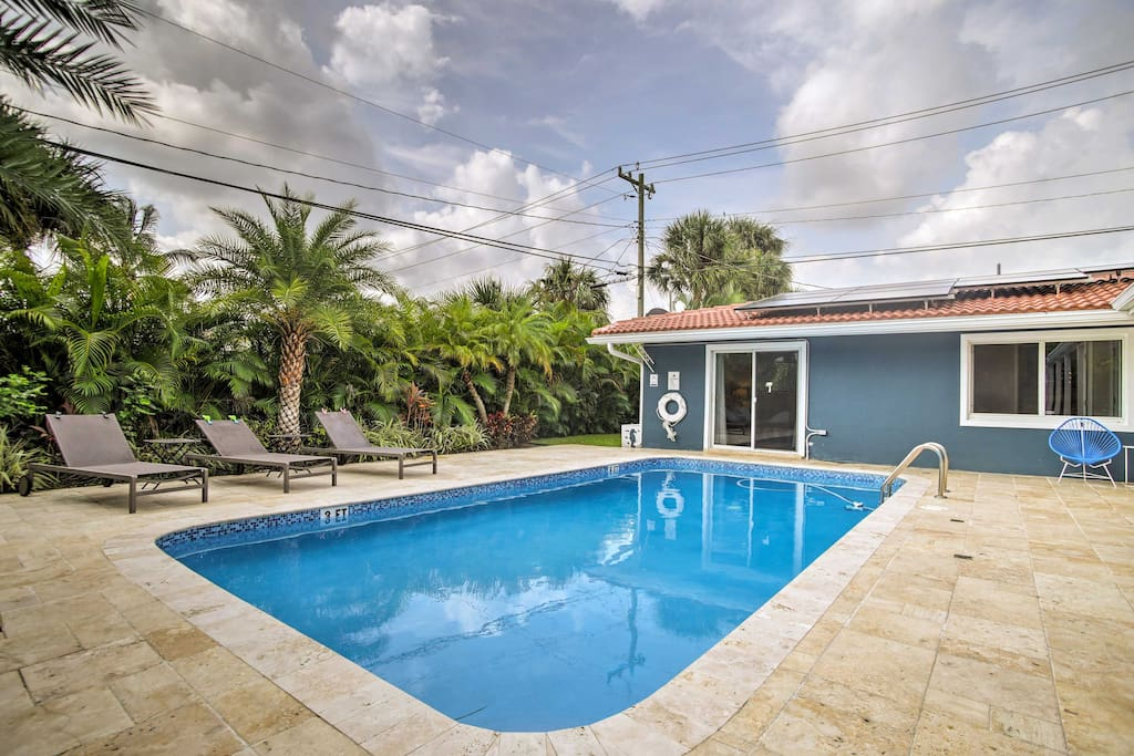 Soak up the Florida sun while lounging by the private heated swimming pool.