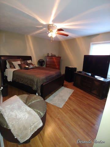 Luxury Bedroom with Refrigerator