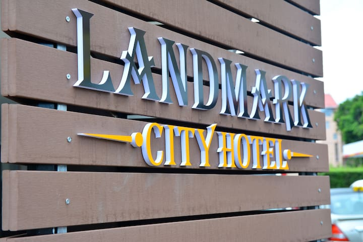 Landmark city hotel is located on royal road st Jean, Qustre bornes. Call 4633365 for info.