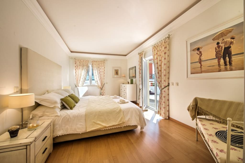 Master bedroom with superking bed, own balcony and ensuite