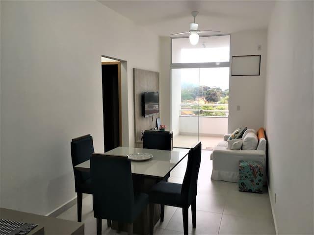 Apartamento novo com vista para o mar do Itaguá