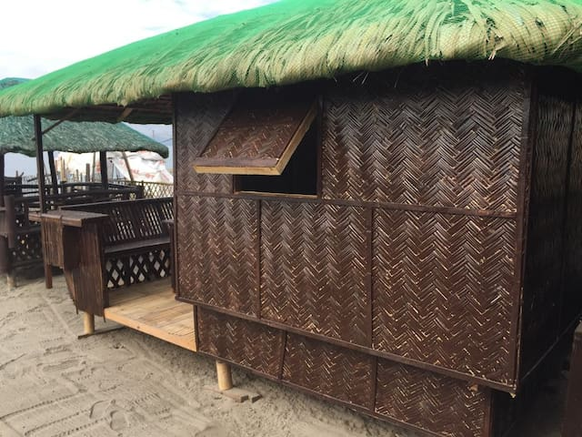 Rustic Air-conditioned Bamboo Beach KUBO for two.