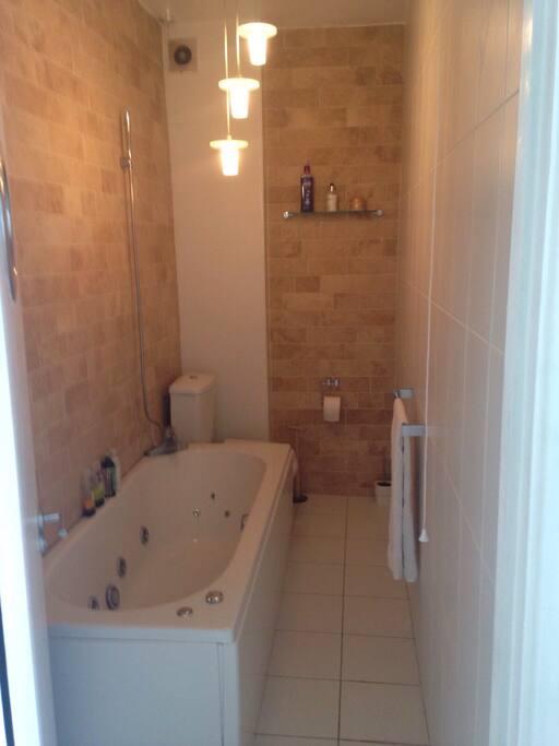 Luxury Bathroom with whirlpool bath
