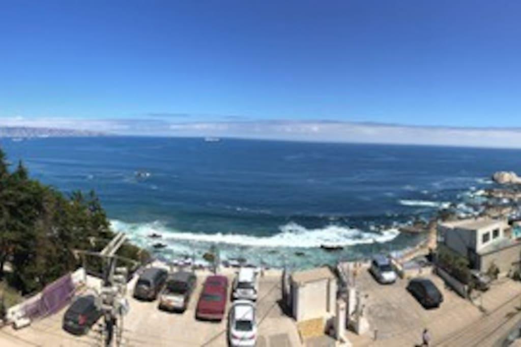 Vista al Mar desde el Departamento