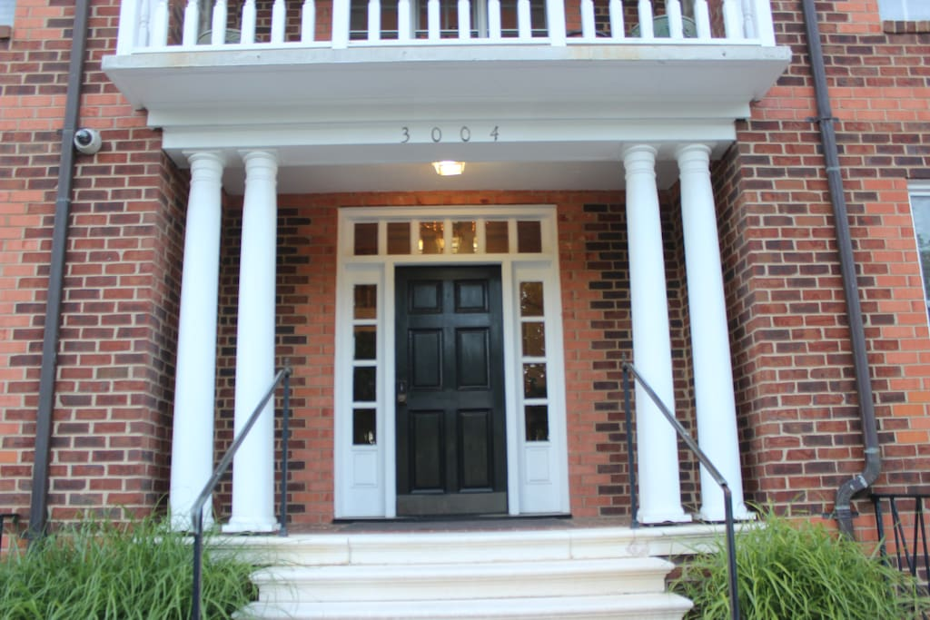 Front entrance w/code lock