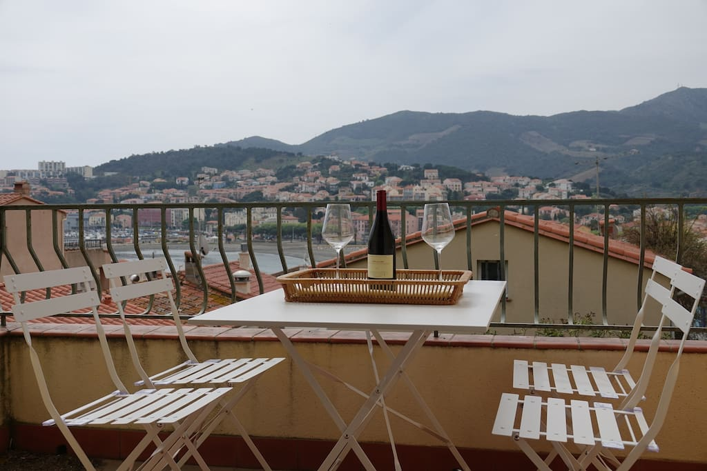 Terrasse avec vue / Terrace where you can have a meal