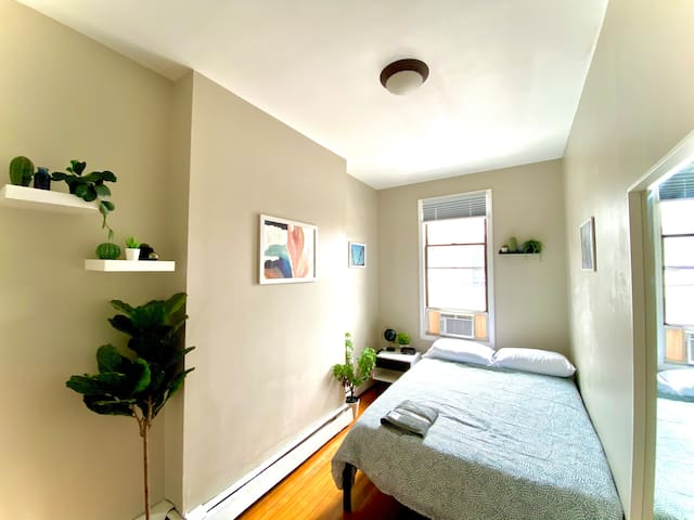 The 2nd bedroom, promises a comfortable sleeping experience complete with room-darkening shades, a Smart TV w/ streaming services and spacious closet. Alarm clock provides USB ports for charging your phone.