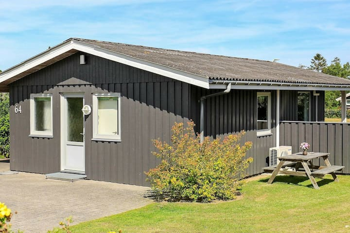 Wooden Holiday Home in Humble Syddanmark with terrace and barbecue