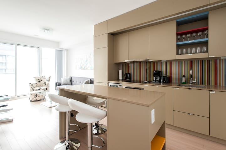 High-Floor City View Downtown Toronto Suite   2 BR