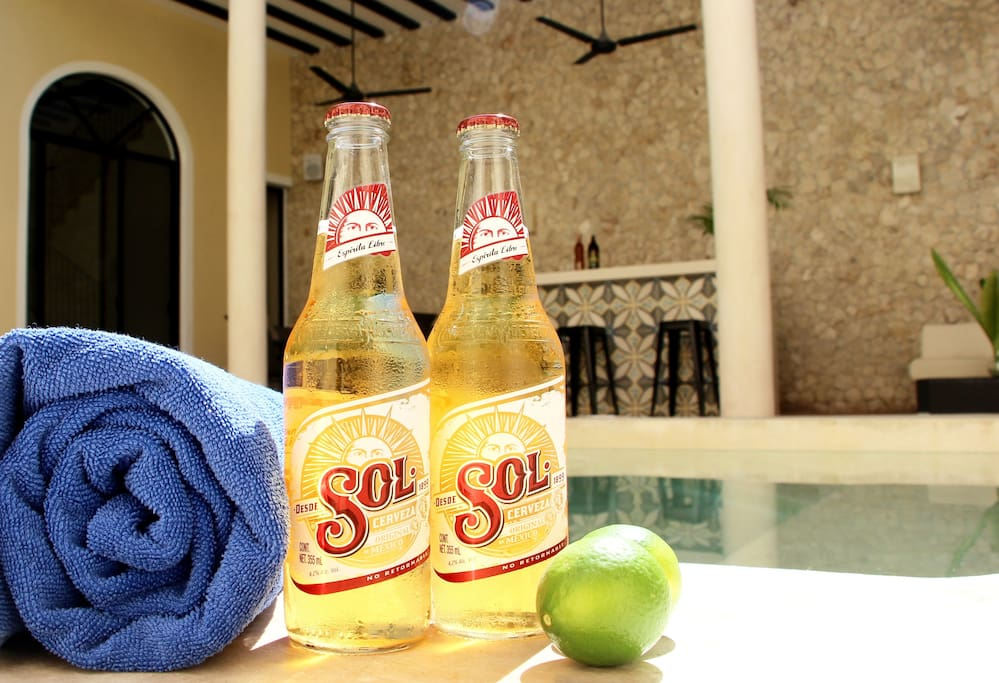 Relax with a cold beer pool-side in the stunning pool area.