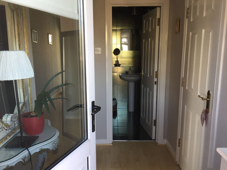Private front door and entrance hall
