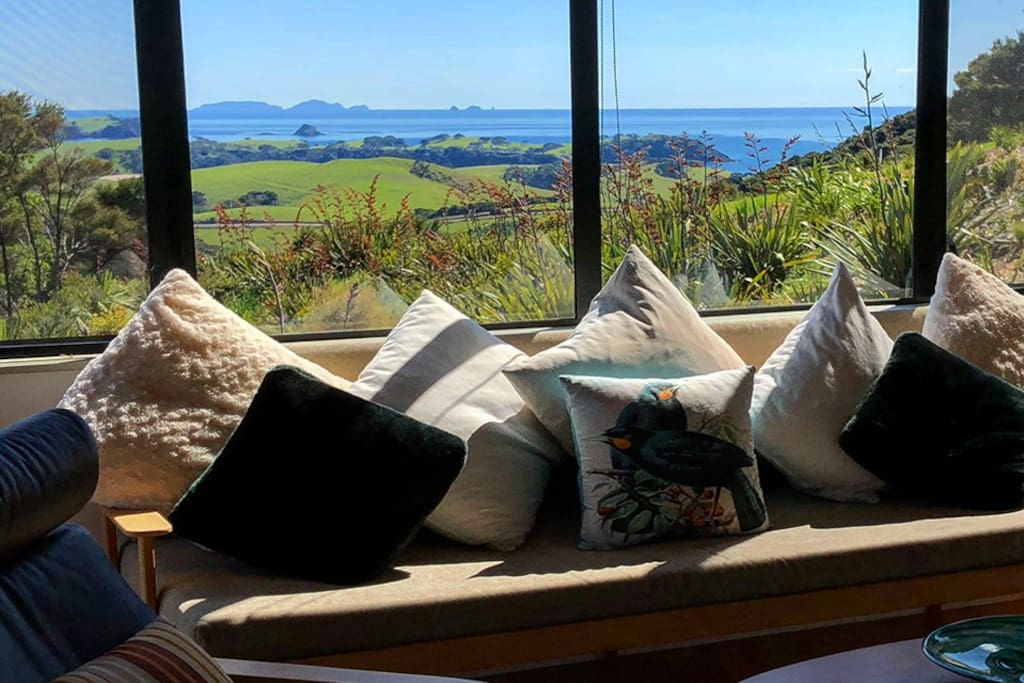 Living area with huge views