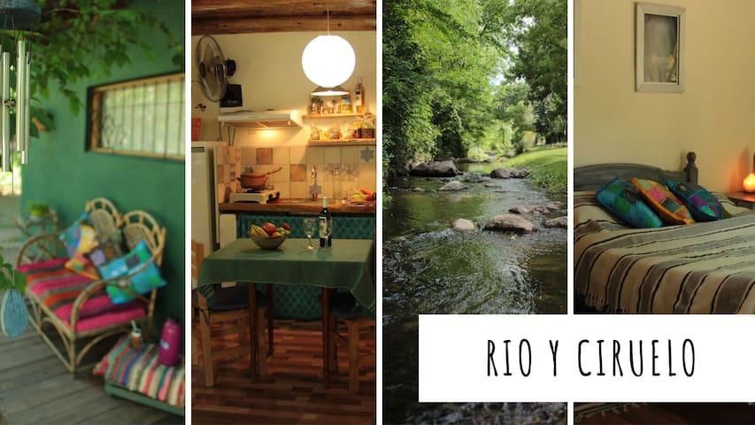 Rio y Ciruelo, monoambiente frente al rio