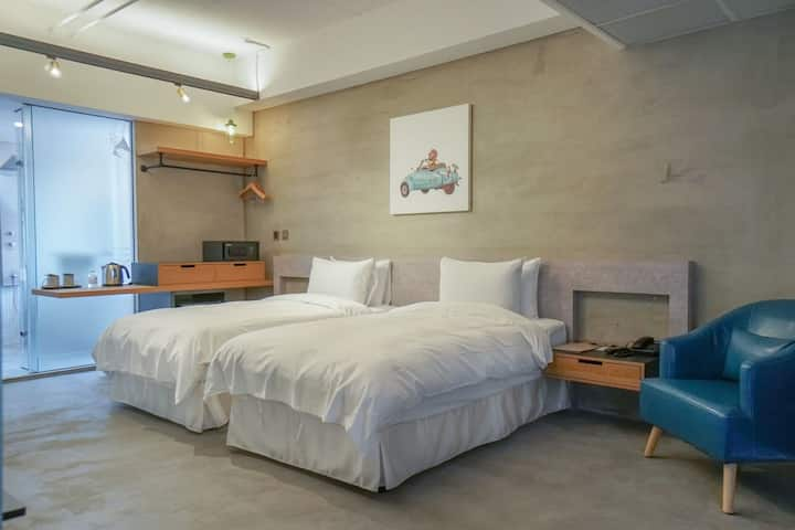 Twin Room with Bath tub/near Yingge station