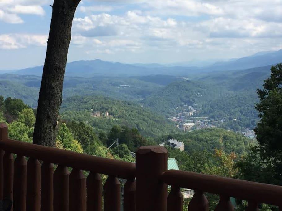View of downtown Gatlinburg