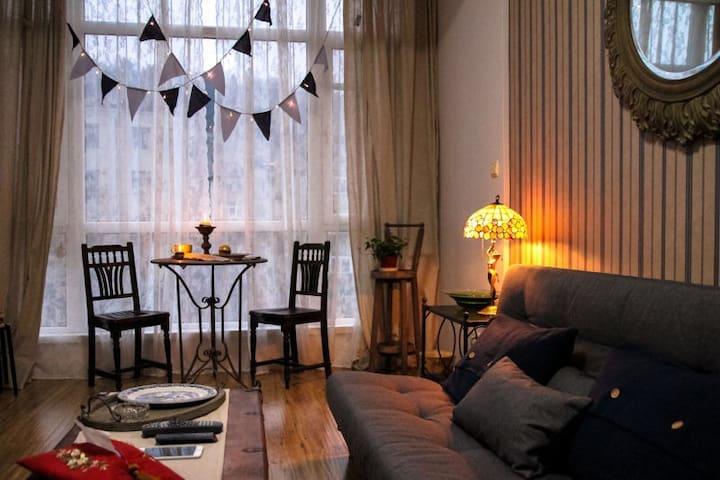槐香居-市中心一室一厅55平米海派复古公寓 - 大连 - Apartment
