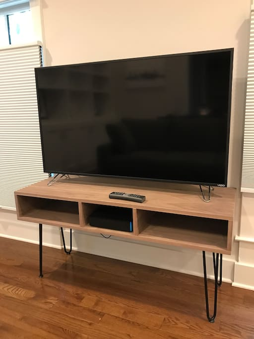 """50"""" HD TV with all cable channels - HBO, Showtime and Starz."""
