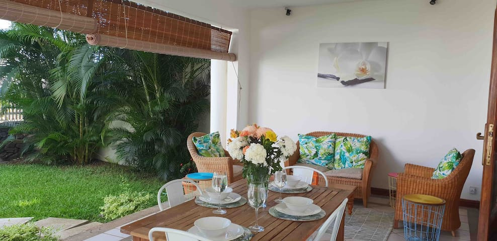 Enjoy the sea view from the comfortable veranda