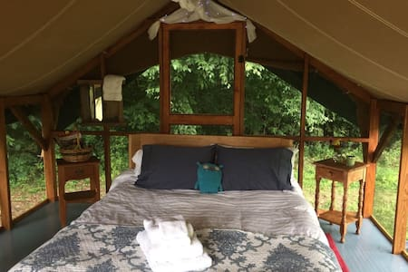 Vermont Green Mountains Comfy Glamping Tent Camp