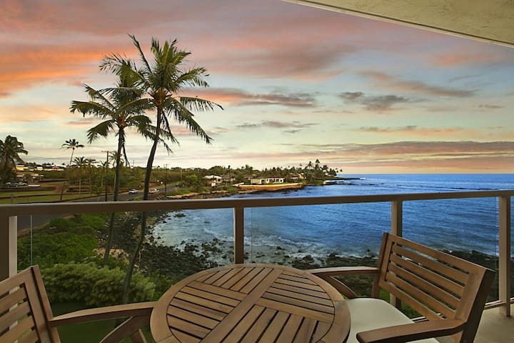 Kuhio Shores 303: Oceanfront, AC, Surf And Snorkel Nearby