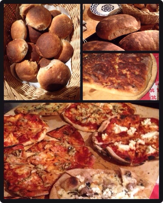 Our bread and pizza
