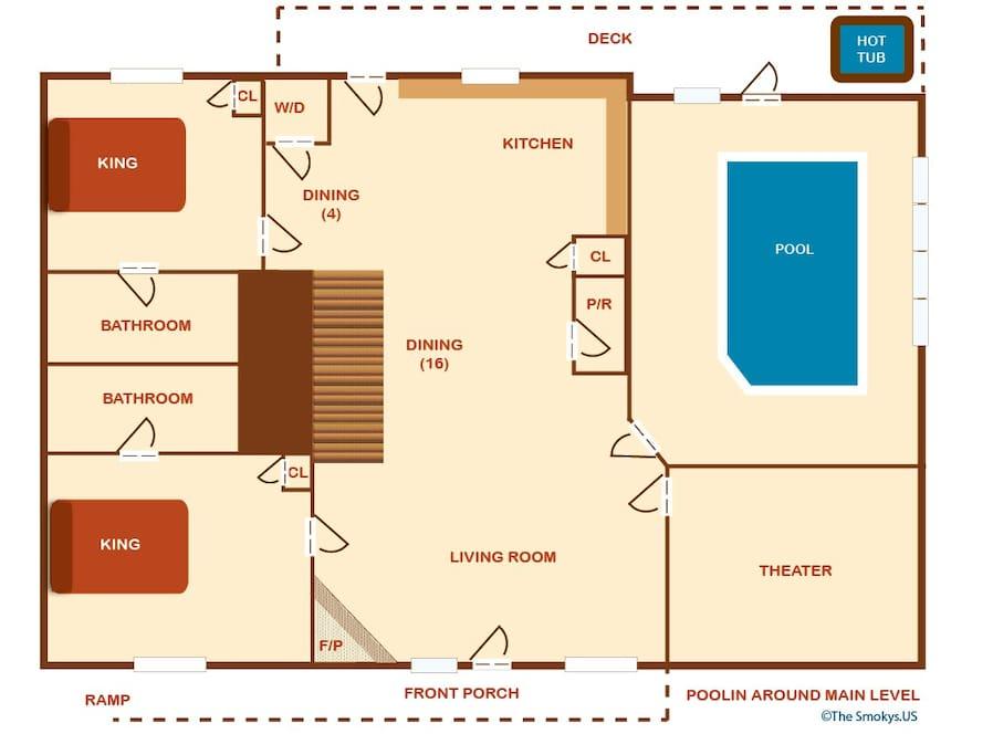 Poolin' Around-Floor Plan