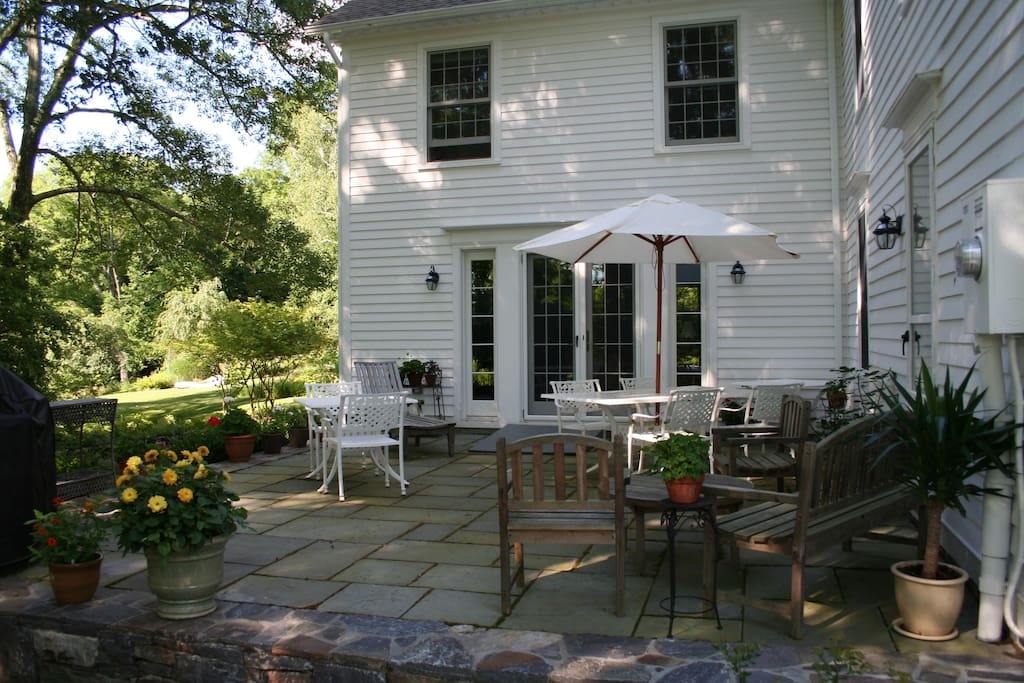 Our beautiful outdoor patio, perfect for cookouts with family and friends!