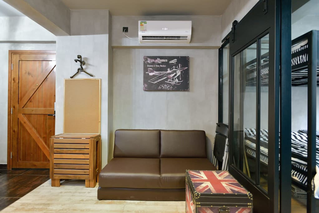 Living Area - with double sofa bed