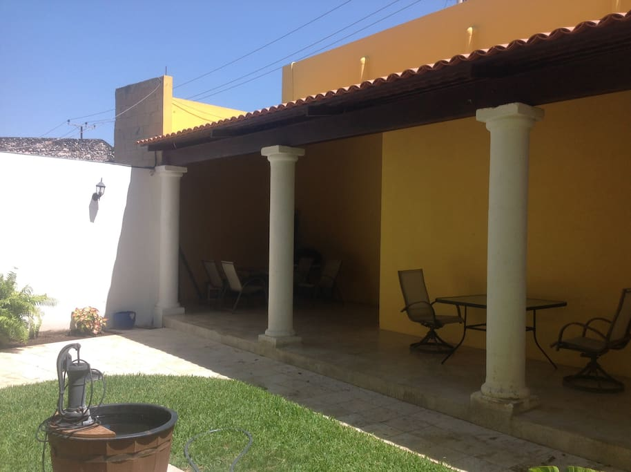 Two additional shaded patio areas