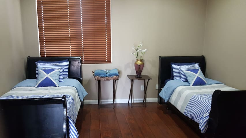 Beautiful Room with Two Twin Size Beds