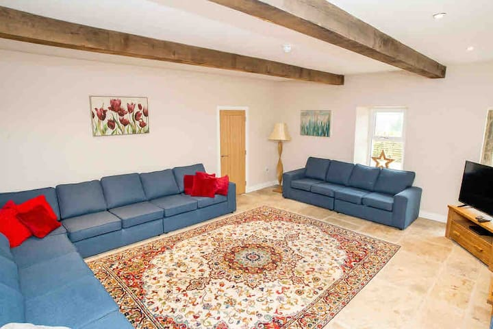 We have lots of sofa space for everyone to relax together