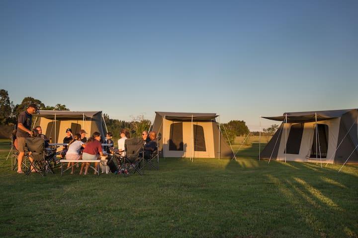 Group Camping at Rivershore Resort Sunshine Coast