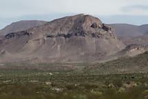 """Here is the view from your campsite...  """"Sleeping Lion"""" mountain. Can you see the sleeping lion?  He is facing right...."""