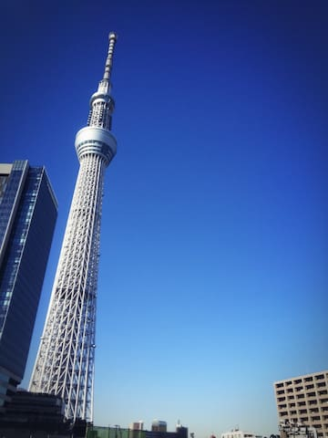 SKYTREE Private Rooms in Share Penthouse - Sumida-ku - Apartment