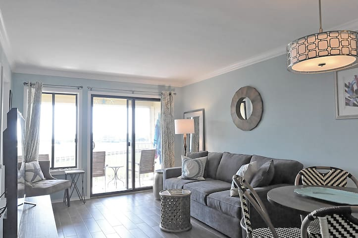 Beautiful, bright, light and modern living room with private balcony and amazing view.