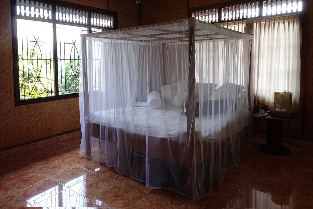 Upstairs bedroom with view