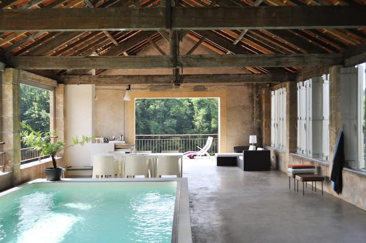 'BELLES RIVES' uniek vakantiehuis aan de Dordogne