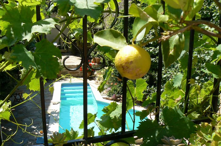 Winemakers Home, beautiful courtyard garden & pool