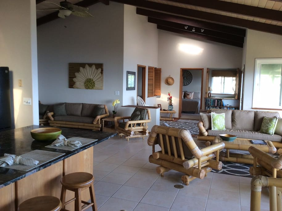 Spacious upper level 1 story private home on Ocean front.