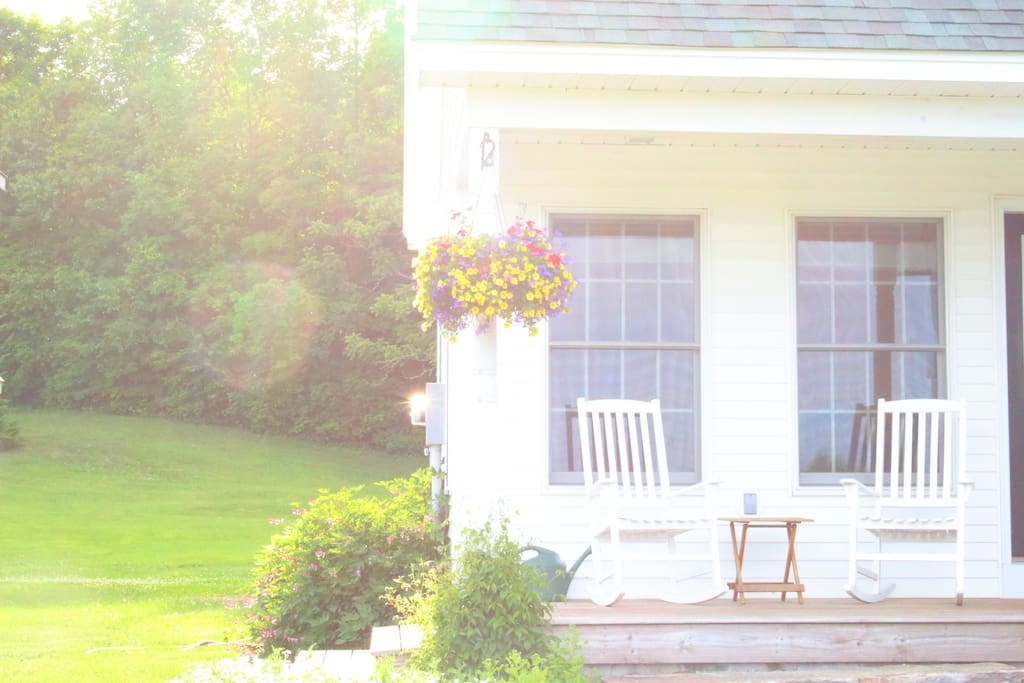 The porch offers a great place to enjoy your morning coffee or read in the shade of the afternoon