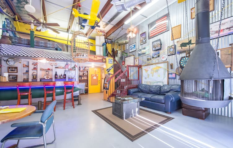 ManCave apartment/ airplane hangar.