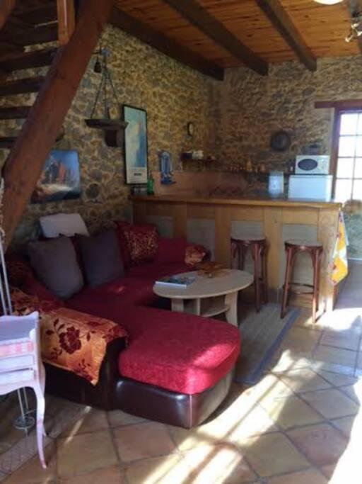 espace détente salon