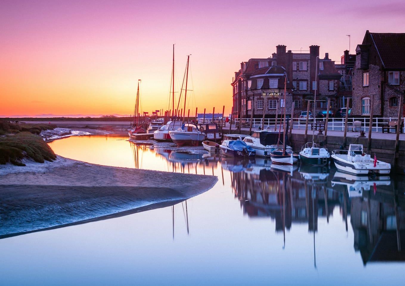 Beautiful Blakeney Quay at sunrise.