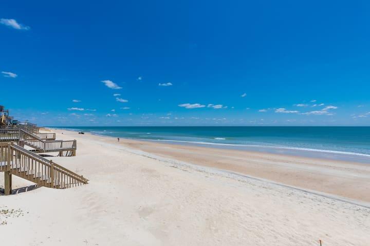 LunaSea Oceanfront 2 Bed Surf City-Walk to Dine