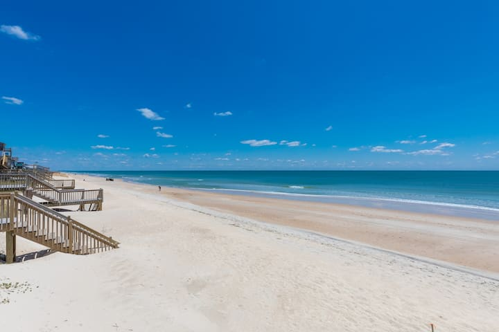 LunaSea Oceanfront 2 Bed Surf City-Walk to Dine
